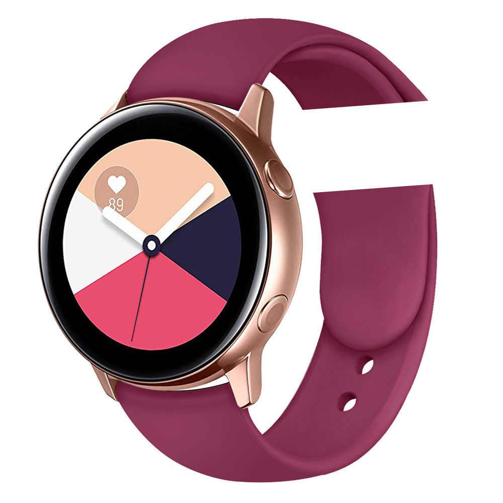 Originele Horloge Band Voor Samsung Galaxy Horloge 3 41Mm Actieve Galaxy 42Mm Strap 20Mm Gear S2 Band sport Zachte Horloge Band Polsbandjes