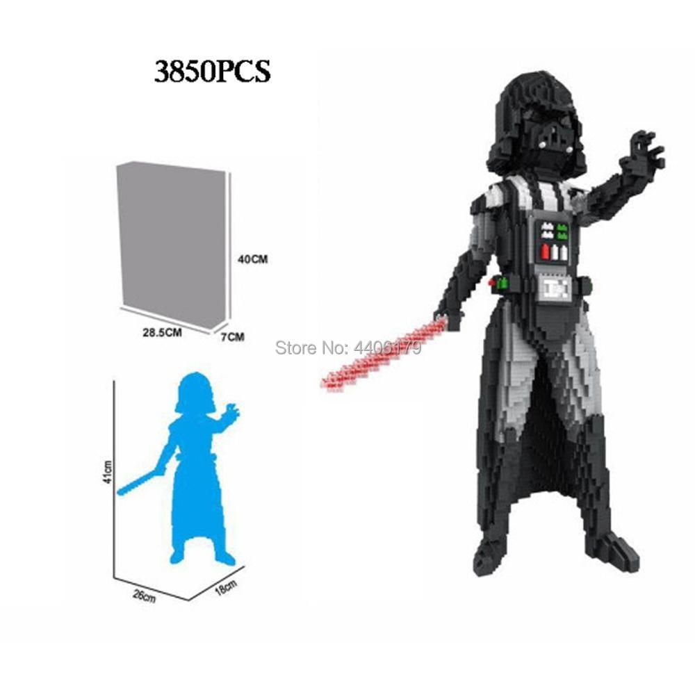 hot LegoINGlys Star Wars movie Darth Vader Figures mini Micro Diamond Building Blocks model nano bricks Collection toys for gift