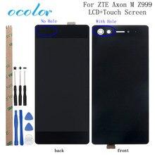Ocolor zte axon m z999 lcd 디스플레이 및 터치 스크린 디지타이저 어셈블리 교체 도구 + 접착제 zte axon m z999 용