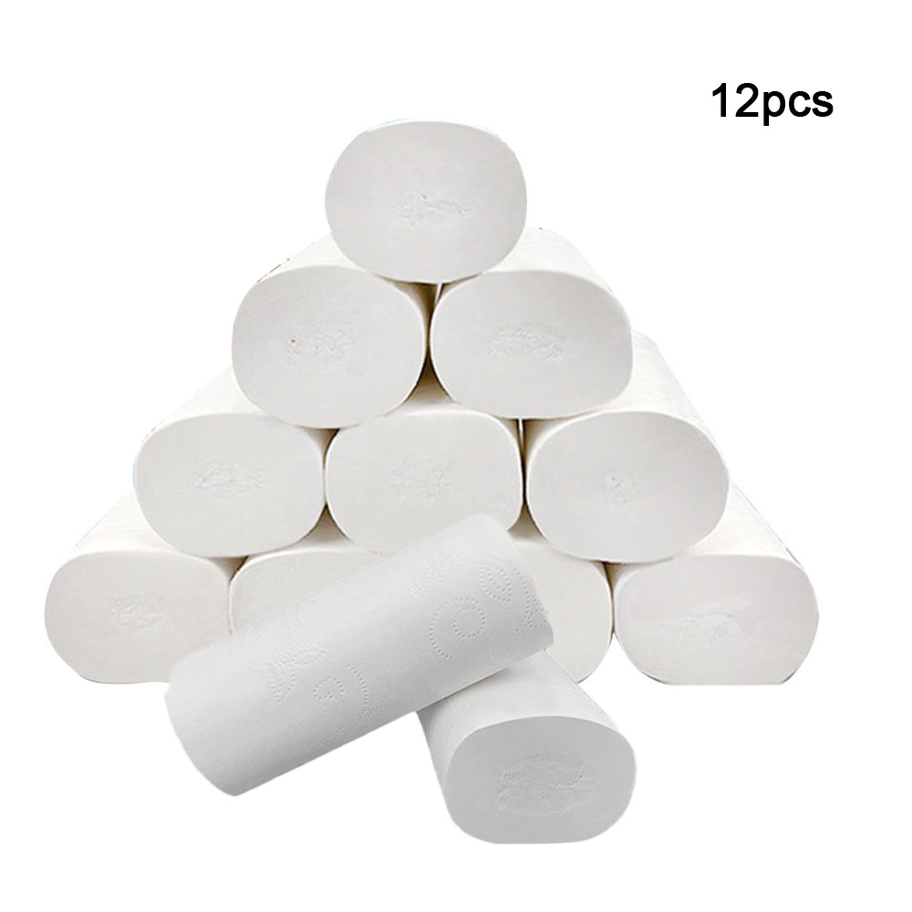 12 Rolls Tissue Toilet Paper 5 Layers Toilet Paper Table Kitchen Pape Eco Friendly Soft Table Kitchen Cleaning Paper