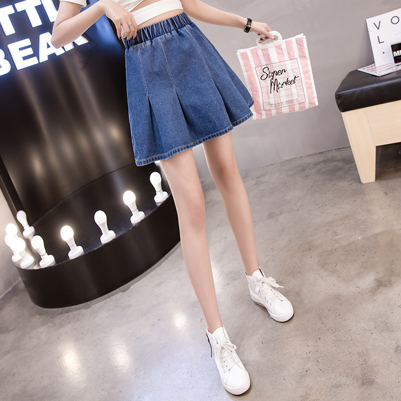 Denim Skirt Women's Korean-style 2019 Summer New Style Large GIRL'S 200 Large Size High Waist Skirt