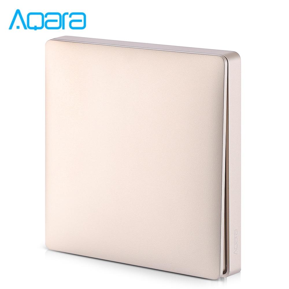 Xiaomi Aqara Wall Intelligent Voice Light Control Home Switch Panel Zero Fire Single Key Version ( Xiaomi Ecosystem Product )