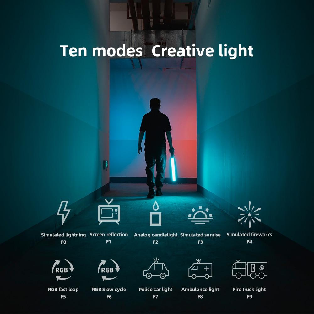 Yongnuo YN360 III YN360III Handheld 3200K 5500K RGB Colorful Ice Stick LED Video Light Touch Adjusting Yongnuo YN360 III YN360III Handheld 3200K-5500K RGB Colorful Ice Stick LED Video Light Touch Adjusting Controlled by Phone App