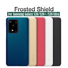 Dla Samsung Galaxy S20 Ultra S20 + Plus 5G przypadku Nillkin Super matowe tarcza twardy PC tylna pokrywa Protector Case dla Samsung S20