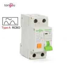 Тип A RCBO 6KA 1P+ N 16A 25A 32A 40A электромеханический выключатель остаточного тока с защитой от перегрузки по току и утечки