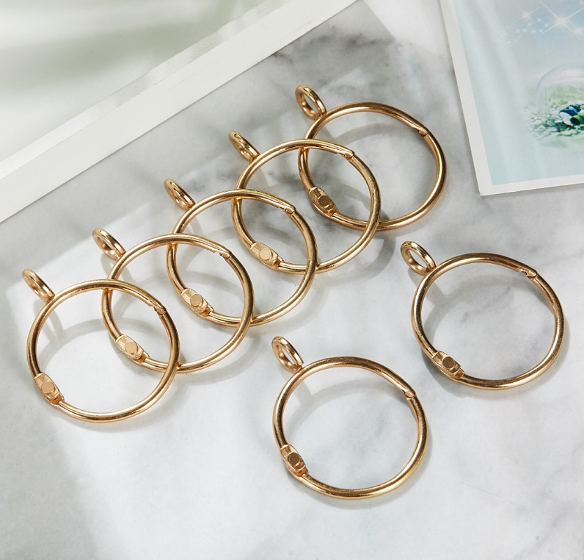 Zhi You Currently Available Supply Curtain Ring Adjustable Sliding Bracelet Transformation Ring-pull Silver Circle Roman Circle
