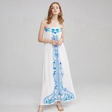 Новинка Летнее праздничное пляжное платье в богемном стиле сине
