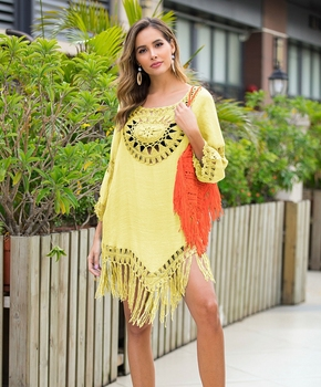 2020 Sexy Lace Hollow Crochet Beach Cover Up Women Bikini Cover Up Beach Dress Tunics Swimsuit Bathing Suits Cover-Up Beach wear 10