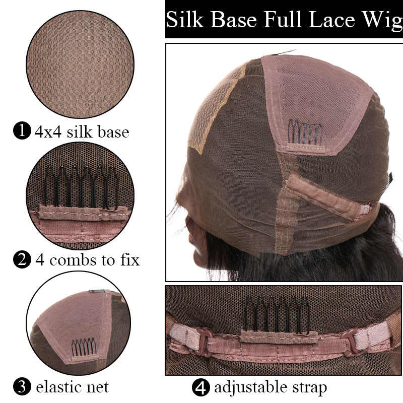 SEGO Brazilian Silk Base Full Lace Wigs Body Wave Human Hair Wigs For Black Women Silk Top Wig Pre Plucked Lace Wig NonRemy Hair