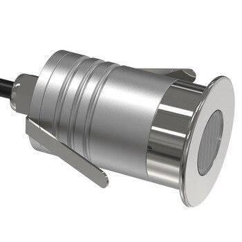 4PCS 1W + Waterproof AC100-240V Transformer CREE Downlight IP67 12V 24V Mini LED Grille Lamp