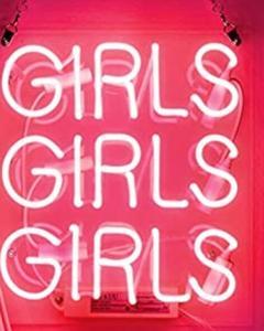 Image 2 - Custom Pink Girls Girls Girls Blue White Red Pink Deep blue Purple Turquoise Green Yellow Glass Neon Light Sign Beer Bar
