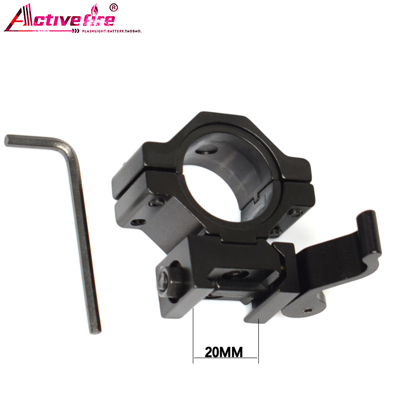 Activefire Gun Mount 25MM 30mm Flashlight Picatinny Tactical Quick Release Mount Tactical QD Quick Release Mount Adapter