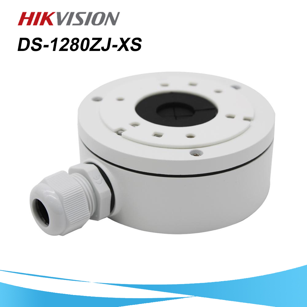 In Stock Hikvision CCTV Bracket DS-1280ZJ-XS Aluminum Alloy Juction Box For Bullet Camera DS-2CD1021-I DS-2CD1041-I