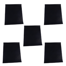 LETAOSK 5pcs Black Non Stick Home Outdoor BBQ Bake Barbecue Cooking Grill Mat Pad Sheet Tool 400x330x0.2mm