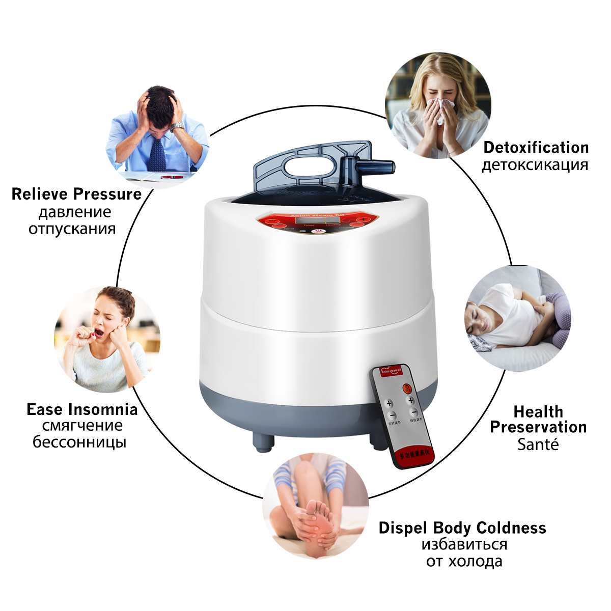 Indoor 2l 220v 60hz 1000w Foldable Portable Steam Sauna Room Tent Loss Weight Slimming Skin Spa For Personal Health Care 4
