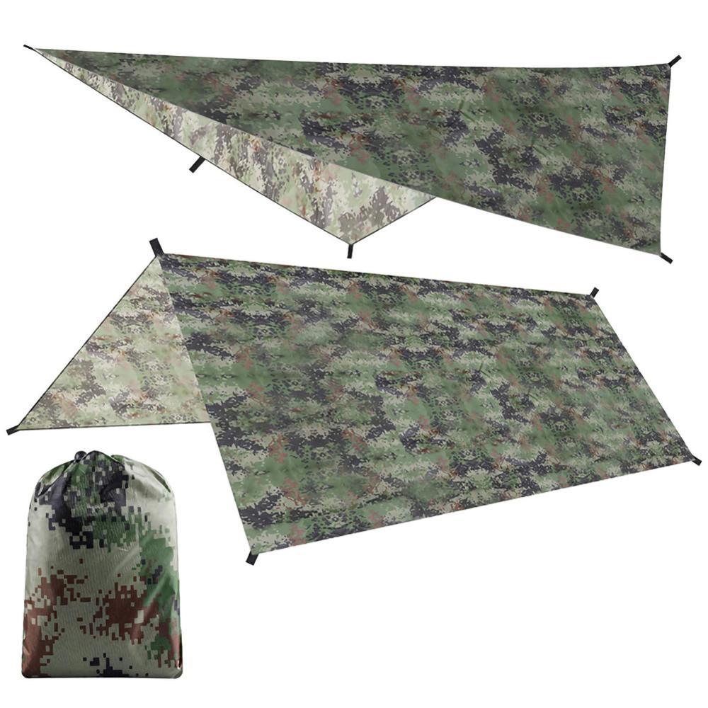 Awning Waterproof Tarp Tent Shade Ultralight Garden Canopy Sunshade Outdoor Camping Hammock Rain Beach Sun Camouflage Shelter