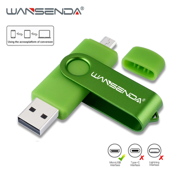 WANSENDA wysokiej prędkości OTG dysk Flash USB metalowe pióro 16 napęd GB 32GB 64GB 128GB 256GB Pendrive dysk zewnętrzny pamięć USB tanie i dobre opinie CN (pochodzenie) USB 2 0 10 3g Smart Phone OTG USB flash drive Wielofunkcyjny Rectangle GUITAR Dla palców Smycz May-13