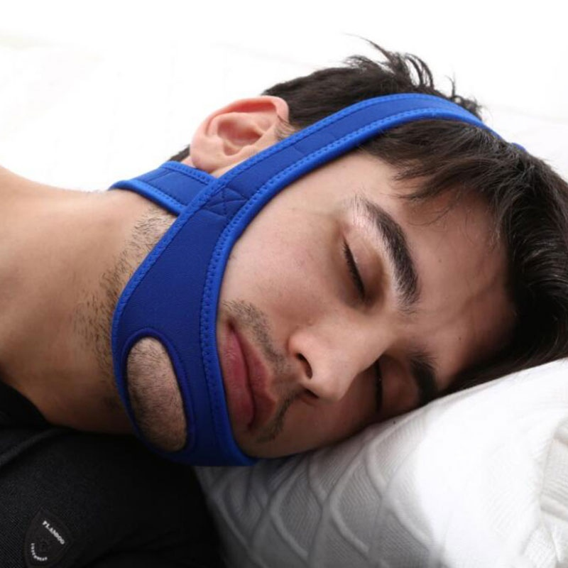 Neoprene Anti Snore Stop Snoring Chin Strap Belt Anti Apnea Jaw Solution Sleep Support Apnea Belt Sleeping Care Tools
