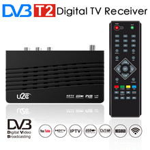 U2C DVB-T2 TV Tuner HD Digital TV Receiver DVB T2 Receptor H.264 HDTV Set Top Box DVBT2 Decoder DVB-T Prefix for Russian Free TV(China)