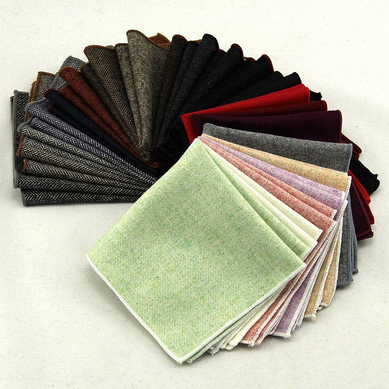 Fashion MEN'S Suit Wool Pocket Square Handkerchief Kerchief Suit Pocket Accessories