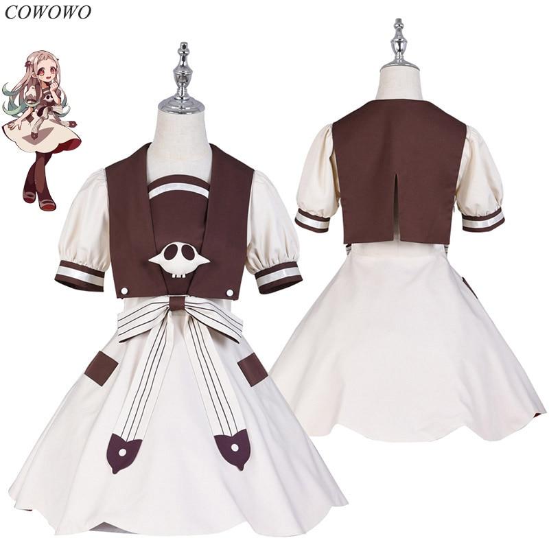 Anime! Toilet-Bound Hanako-kun NeNe/NingNing Lolita Maid Dress Lovely Uniform Cosplay Costume Halloween Suit NEW Free Shipping