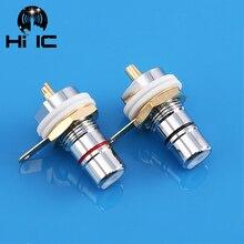 Clavija de enlace chapada en rodio Amp HiFi, conector hembra RCA para chasis, conector hembra CMC, 1 par/2 uds.