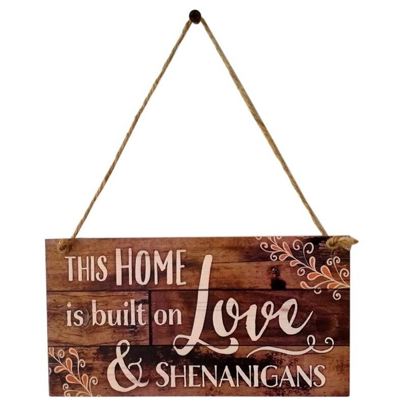 5x Wooden Wall Shape Plain Plaque Hanging Decoration Sign Door Sign Rectangles