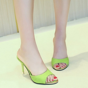2020 Simple Stylish Women Slippers Thin Heels Women Shoes Solid Color HOT Women Shoes Pointed Toe Dress Shoes 1