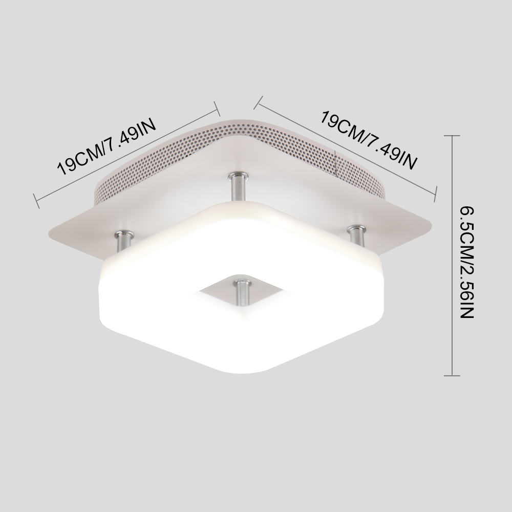 H70210c32dd3f43eca32f99a6762a0061c Kitchen Ceiling Lights | Kitchen Spotlights | Modern Minimalism Black Square Iron Dimming Ceiling Lamp Bathroom Balcony Corridor Aisle Kitchen Surfaced Mounted Ceiling Light Wattage 12W