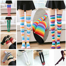 Baby Girls Knee High Socks Toddler Tights for Girls Kids Black and White Gorl Knit Tights
