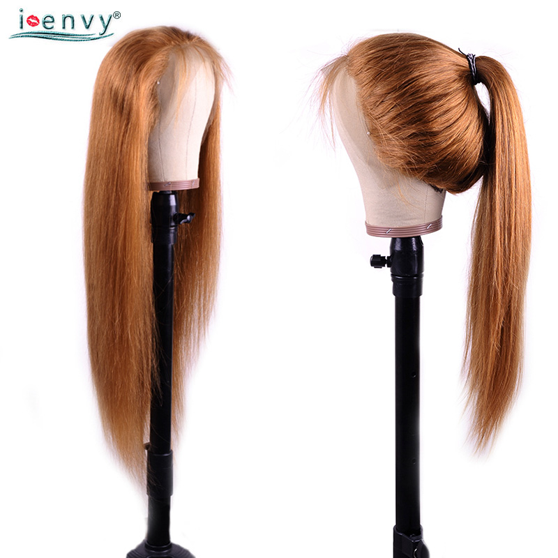 H7021195f66c04a8289519e600513094dM Ginger Blonde Lace Front Wig Straight Pre Plucked 13X4 Lace Front Wigs Highlight Colored 30 Lace Wig Human Hair Blonde Non-Remy