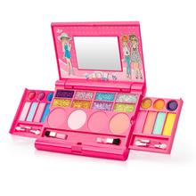 Princess Girls Cosmetics Play Set Palette Vanity With Mirror Washable And Non Toxic Makeup Kit For Kids Pretend Play Makeup Box