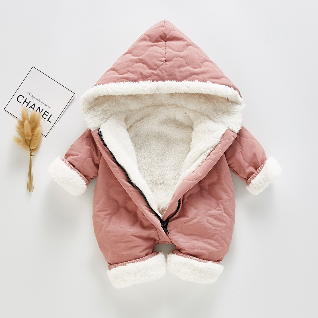 Модный зимний комбинезон для маленьких девочек, детская зимняя куртка толстый зимний комбинезон с капюшоном на молнии, пальто спортивный костюм комбинезоны для новорожденных, Ropa De Invierno