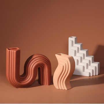 สไตล์นอร์ดิกแจกันเซรามิคตกแต่ง,โมเดิร์นเรขาคณิตสถาปัตยกรรมแบบจำลอง,โรงแรม,ห้องพัก,Creative Softตกแต่ง