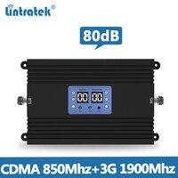Lintretek 80db 리피터 cdma 850 mhz pcs 1900 mhz 2g 3g 신호 부스터 agc mgc 25dbm 80db b5 b2 듀얼 밴드 리피터 앰프