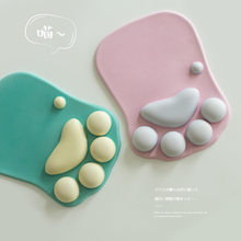 3D Mouse Pad Soft Silicone Cute Cat Paw Mouse Mat Memory Foam Wrist Rests Cushions Mousepad for Kids Laptop Computer Mousepad