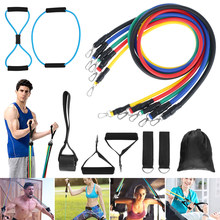 13 adet direnç bantları çekme halatı spor seti genişletici Yoga egzersiz Fitness kauçuk tüpler Band streç eğitim ev spor salonları