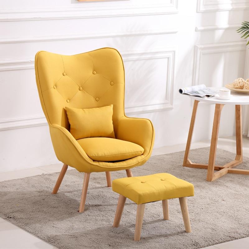 Nordic Single Living Room Sofa Balcony Apartment Mini Chair Modern Minimalist Sofa Personality Leisure Bedroom Throne Chair