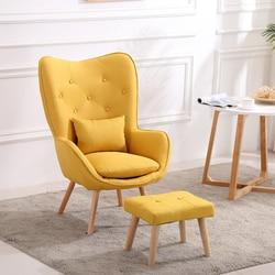 Nordic pojedyncza Sofa do salonu balkon apartament mini krzesło nowoczesna minimalistyczna Sofa osobowość wypoczynek sypialnia tron na