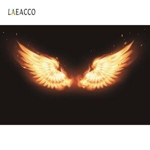 Image 5 - Laeacco ange diable ailes nuages nouveau né photographie décors vinyle Photo arrière plans anniversaire Photophone bébé douche Photocall