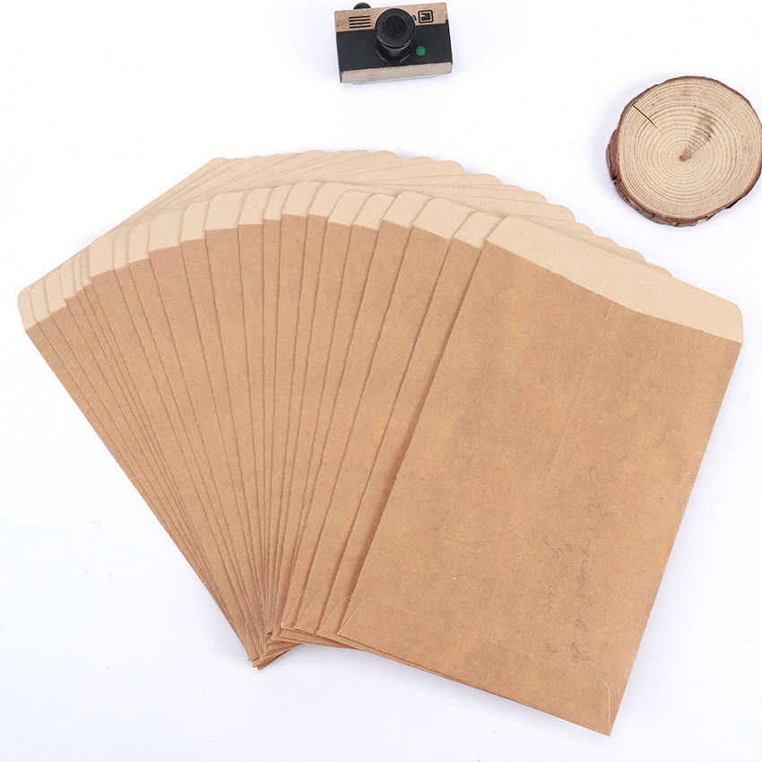 10PCS/Lot Paper Envelopes Vintage Kraft Envelopes Invitation Envelope Postcard Cover Paper Stationery Envelopes Gift