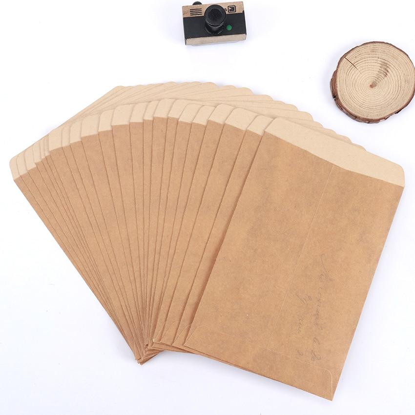 10PCS/Lot Paper Envelopes Vintage Kraft Envelopes Invitation Envelope Postcard Cover Paper Stationery Envelopes Gift