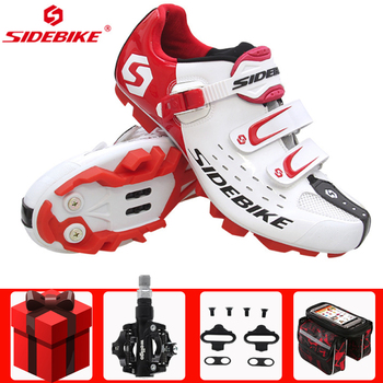 SIDEBIKE cycling shoes sapatilha ciclismo mtb mountain bike men sneakers women pedals self-locking Athletic mountain bike shoes sidebike men women bicycle cycling shoes outdoor mtb racing athletic shoe breathable mountain bike self locking shoes red