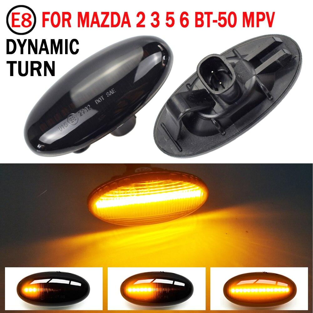 2 Pieces Car Led Dynamic Side Marker Turn Signal Light Sequential Blinker Light For MAZDA 3 For MAZDA 2 Mazda 5 MPV