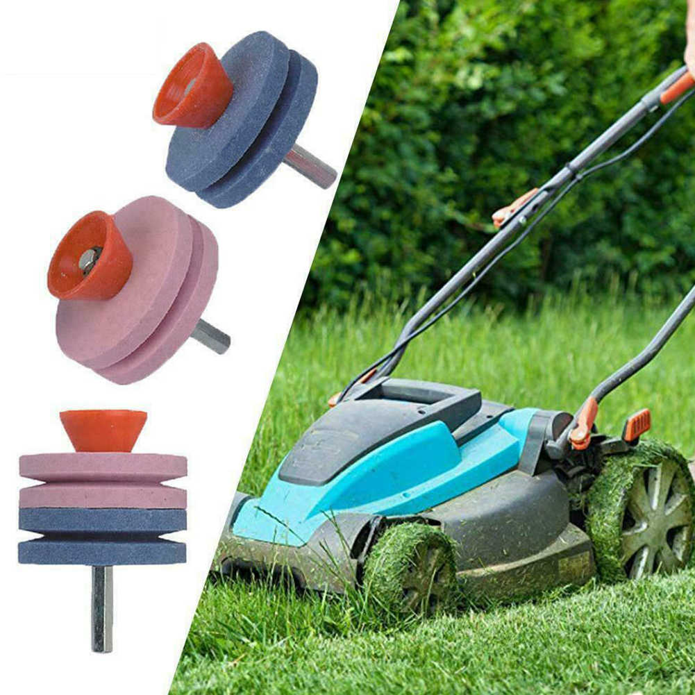 Universal Electric Faster Blade Sharpener Lawn Mower Sharpening Lawnmower Grinding Rotary Drill Accessories Garden Tools