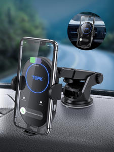 TOPK Wireless-Charger Car-Phone-Holder Pro-Induction-Charger Huawei P30 iPhone 11 15W