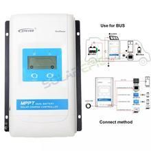 Epever 30A Двойной аккумулятор MPPT Солнечный контроллер Max PV 100V DuoRacer регулятор батареи 12 V/24 V Modbus протокол RS485 связь