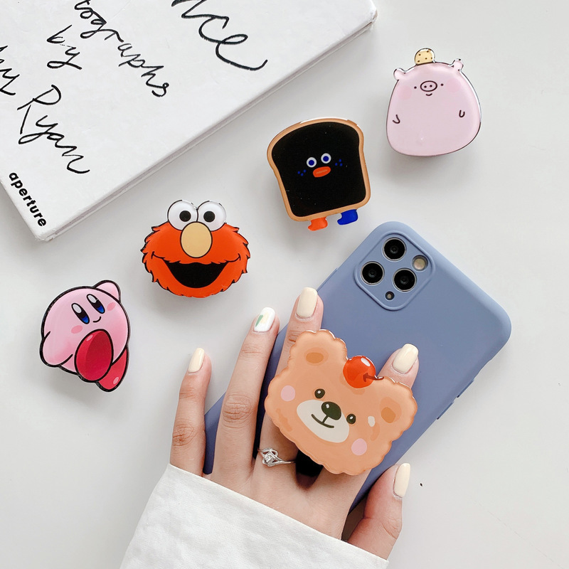 Universal Cartoon Lazy Desktop Telescopic Bracket Pocket Airbag Cell Phone Stand Holder Mobile Phone Accessories for IPhone 11 X