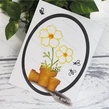 New Dies For 2020 A plate of small flowers Metal Cutting diy photo album  cutting dies Scrapbooking Stencil Die Cuts