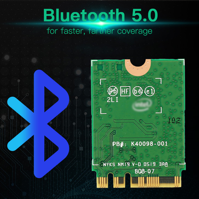 Desktop Wireless Dual Band 2400Mbps Bluetooth 5.0 NGFF M.2 Wifi 6 AX200 Adapter For AX200NGW Wi-Fi Card 802.11ac/ax Windows 10